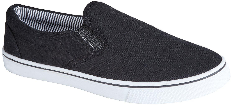 Inconnu Glisser Sur Toile Chaussures D'été, Couleur Noire, Taille 41.5