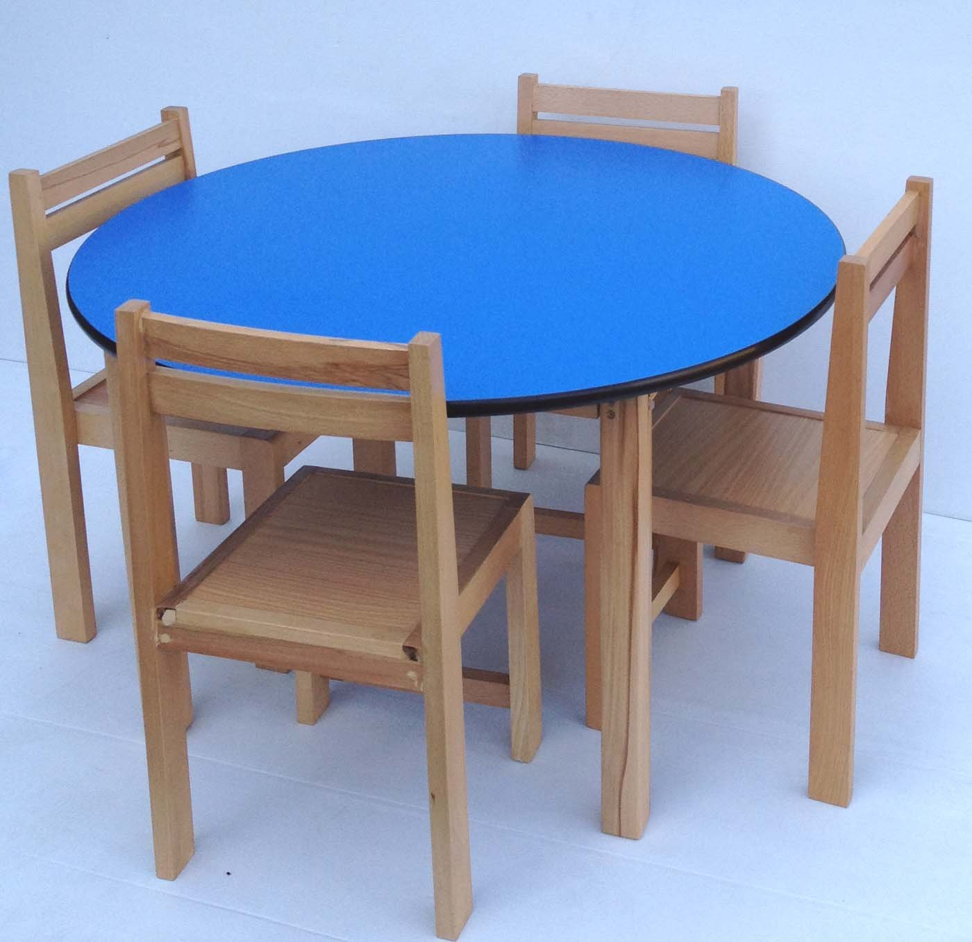High Quality Kids Table/Chairs Set   Beech Wood Round Table And Wooden Stacking Chairs  (White): Amazon.co.uk: Kitchen U0026 Home