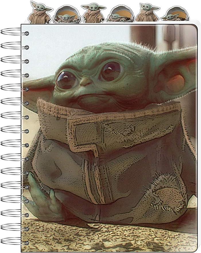 Notizbuch mit Spiralbindung Motiv Star Wars The Mandalorian Naps and Snacks A5