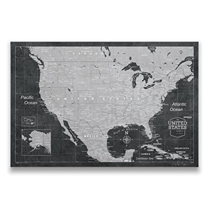 Modern Us Map.Amazon Com Conquest Maps Travel Map Of United States With Pins
