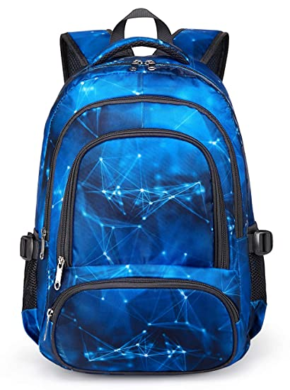 e93b1c21e3e1 BLUEFAIRY Kids Backpacks for Boys Elementary School Bags Middle School  Bookbags Lightweight Durable (Stars,Blue)