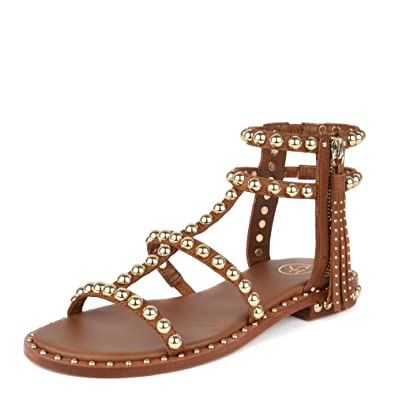 Cuir PlatesEn Marron Footwear Sandales Power Ash OTZuPiXk