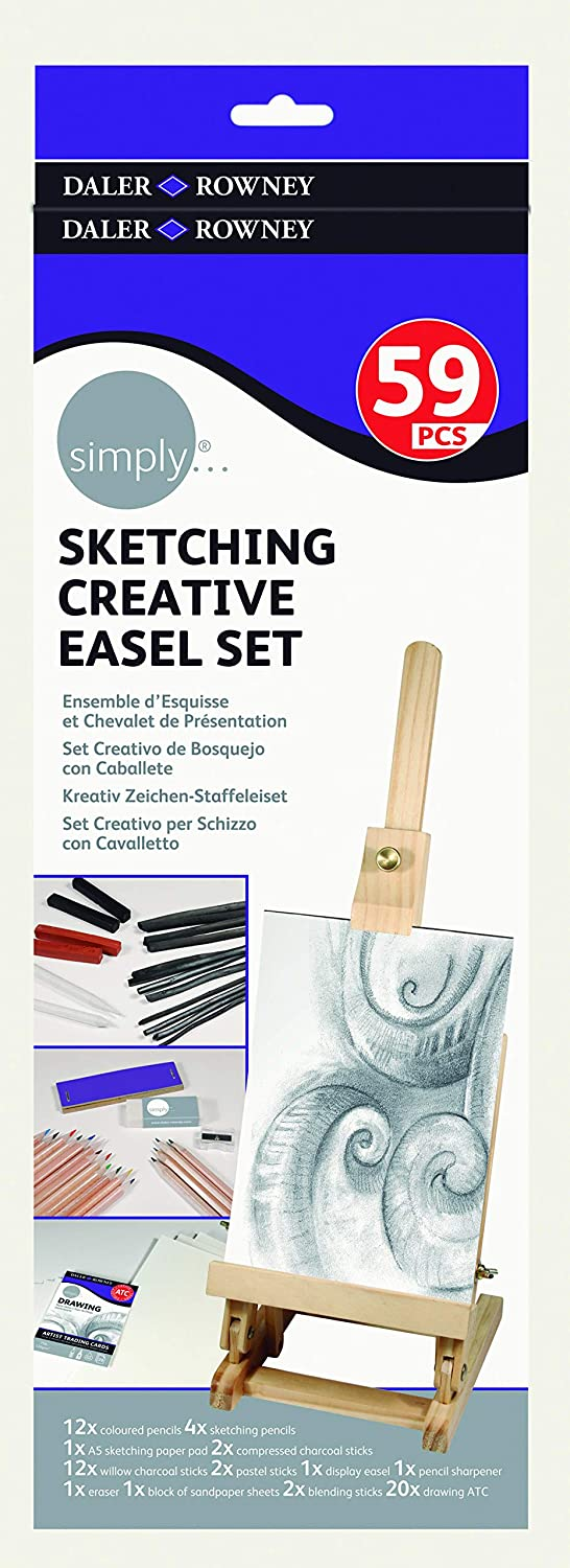 Simply L/ápices Esbozos Sketching Creative Easel Set