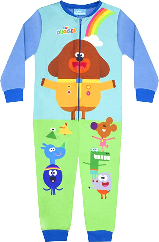 Squirrel Club Pyjamas Jumpsuit PJs Playsuit Costume Fun Children Clothes Gifts for Kids Age 18 Months to 6 Years Hey Duggee Onesie Super Soft Onesies for Boys