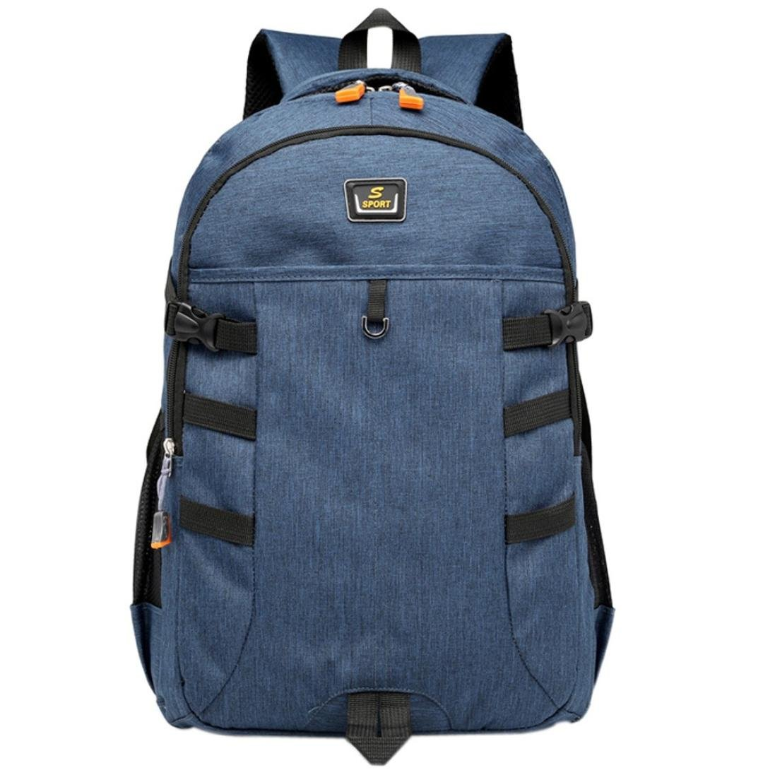 FimKaul Unisex Classic Oxford School Backpack Laptop Bag Student Bag Travel Bag (Blue)