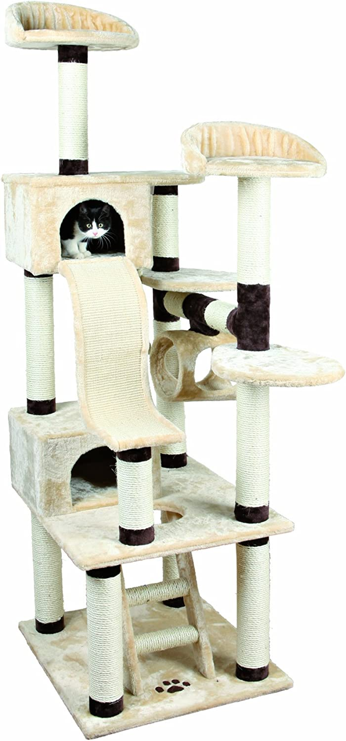 5. Trixie Adiva Cat Playground in Beige and Chocolate Brown