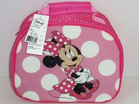 Amazon.com  Disney Minnie Mouse Lunch Tote Box Bag Pink Glitter ... 6406ddb4aa