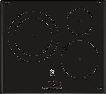 Balay 3EB965LR hobs Negro Integrado Con - Placa (Negro, Integrado, Con placa de inducción, 1400 W, 14,5 cm, 2200 W)