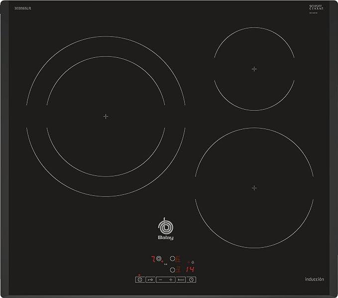 Balay 3EB965LR hobs Negro Integrado Con - Placa (Negro, Integrado, Con placa de inducción, 1400 W, 14,5 cm, 2200 W): 329.73: Amazon.es: Grandes ...