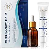 BEALUZ Fungal Nail Treatment Liquid and Cream Kit, Repair Fungal Infected Nails, Effectively Stopping Fungus and Restore…
