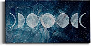 Neutral Color Wall Art, Wall Décor Canvas, Beaches, Floral, Animals, Southwestern, & Vintage Styles, Ready to Hang -Moon Phases 20X40