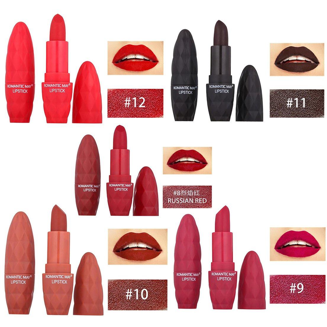Alonea Matte Lipstick, Women Lipstick Moisturizer Matte Lips Stick Long Lasting Charming Lipstick 12 Pack❤️