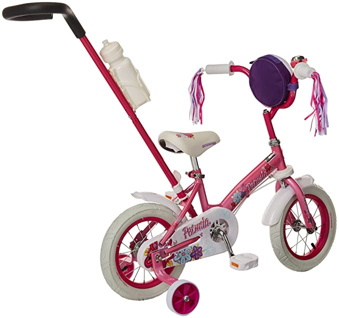ac1960436 Amazon.com   Schwinn Petunia Girl s Steerable Bike With Training Wheels