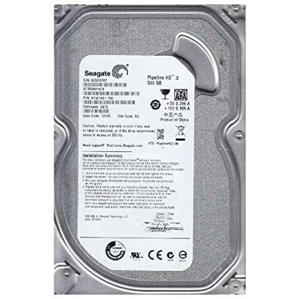 Seagate Pipeline HD 500 GB, Internal, 5900 RPM, 3 5