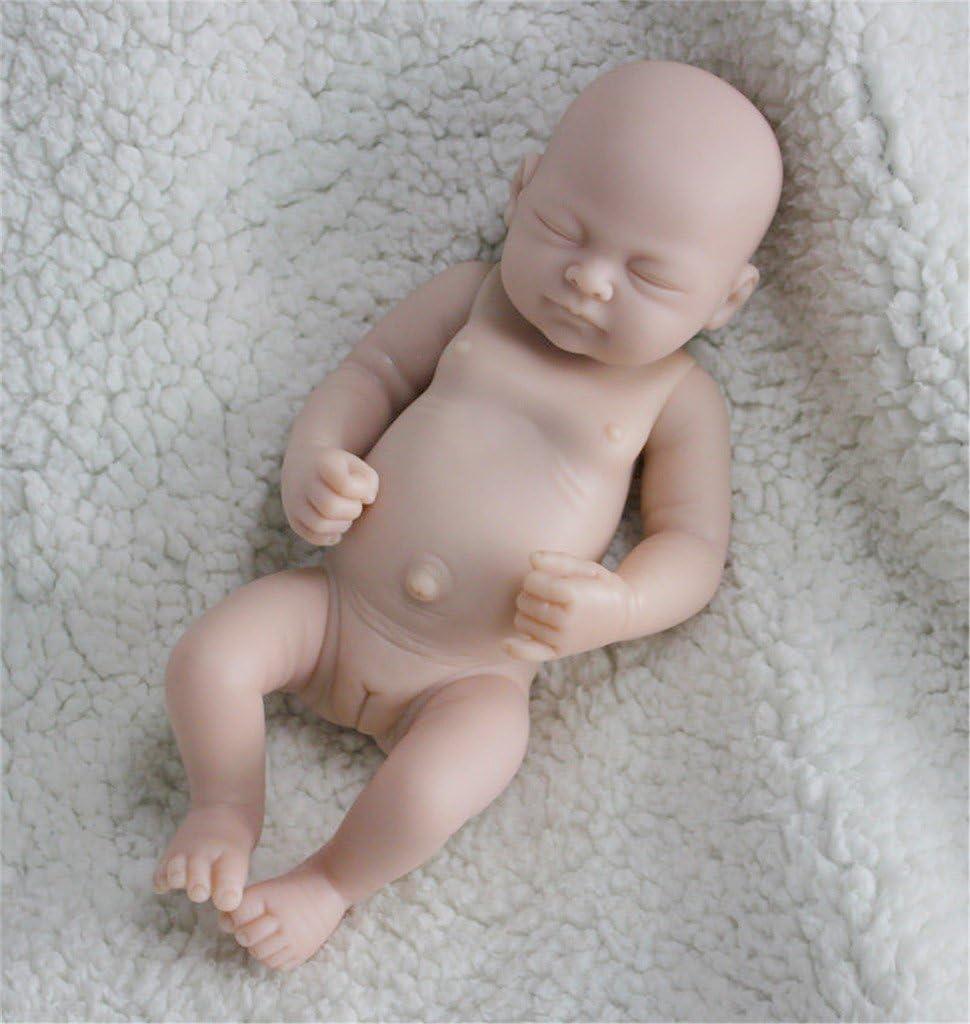 Terabithia 10 Pulgadas Unpainted Blank Reborn Kit muñeca Soft Cuerpo Completo Silicona muñeca Miembros y Partes del Cuerpo