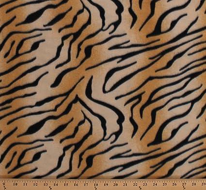 Fleece Tiger Print Animal Print Skin Stripes Tigers Animals Fleece Fabric  Print by the Yard (4836P-11A)
