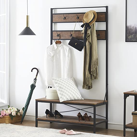 Durable Iron Fame Shoe Rack Bench For Mudroom