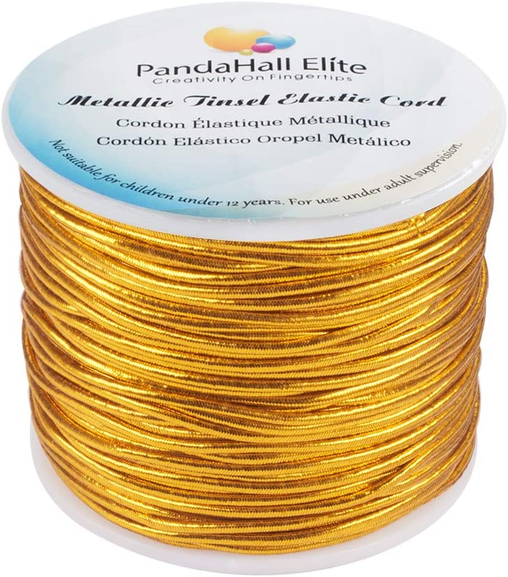 PandaHall Elite 1 Roll 50 m//Roll 2mm Round Elastic Stretch String Cord for Bracelet Neckelace DIY Jewelry Making Silver
