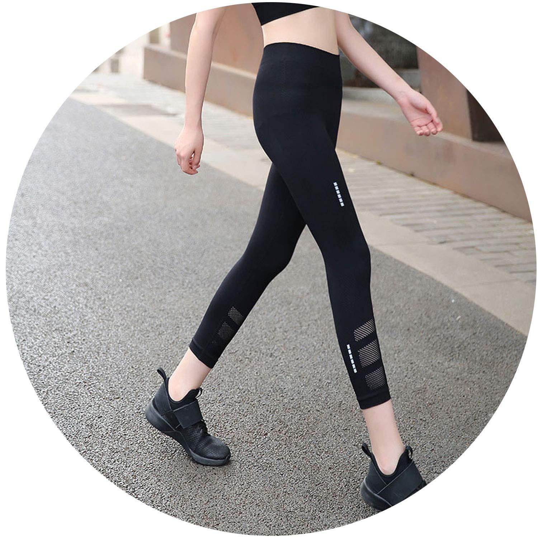 BlackShort smilebi Women Push Up Leggings Fitness Pants Femme High Waist Mesh Patchwork Workout Leggins Pants