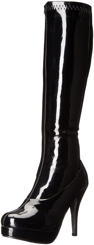 Ellie Shoes Women's 421-Groove Engineer Boot B008ZF604C 11 B(M) US|Black