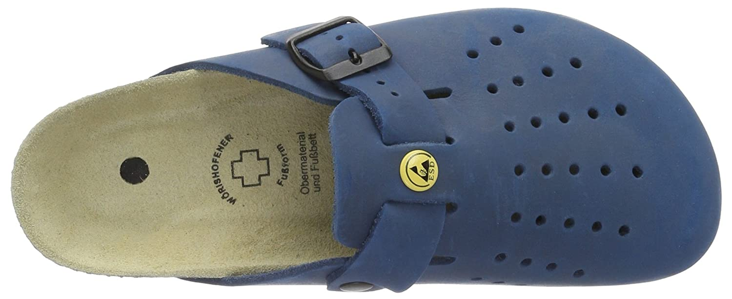 Weeger Mens ESD Antistatic Leather Clog