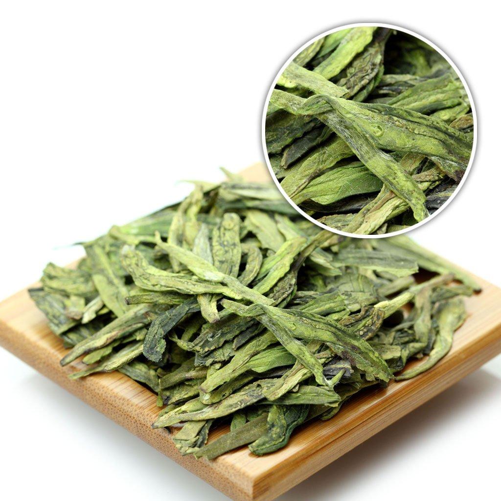 GOARTEA 500g (17.6 Oz) Organic Premium West Lake Xihu Long Jing Longjing Dragon Well Spring Loose Leaf Green TEA