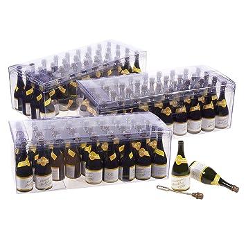 set of 108 bulk bubble wand party favors champagne bottle shaped bubble wands for weddings