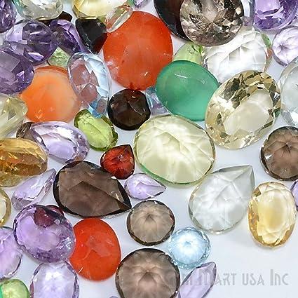 428417a70b1 Amazon.com  100+ Carats Loose Mixed Gems Wholesale Lot. Natural Faceted  Semi Precious Gemstones. Gemmartusa Loose Gemstone  Arts
