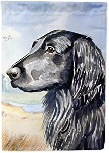 Caroline's Treasures 7064GF Flat Coated Retriever Flag Garden Size, Small, Multicolor