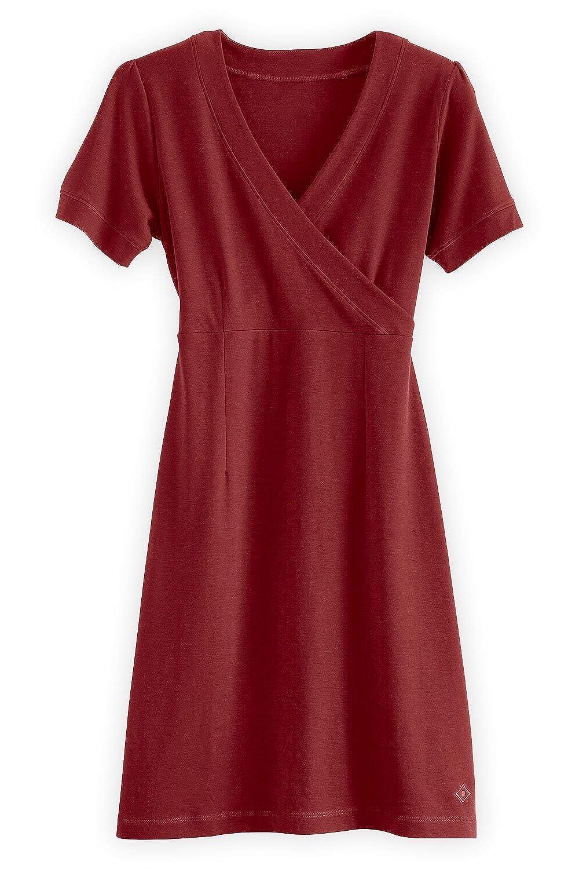 Fair Indigo Fair Trade Organic Faux Wrap Dress