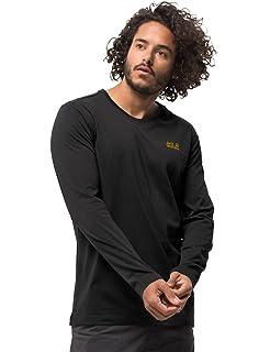 92fa1f1ea1e98d Jack Wolfskin Hollow Range T-Shirt Men Black: Amazon.de: Sport ...