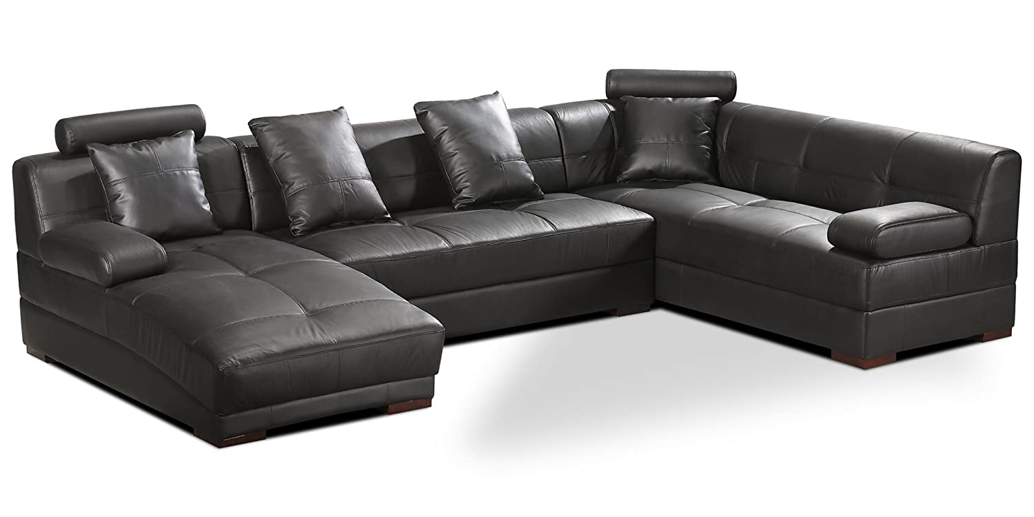 polstersofa baretta farbwahl wohnlandschaft polsterecke couchgarnitur echtleder mit kunstleder. Black Bedroom Furniture Sets. Home Design Ideas