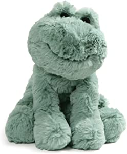 """GUND Cozys Collection Frog Stuffed Animal Plush, Pale Olive, 8"""""""