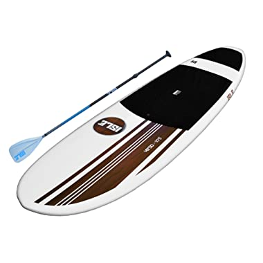 ISLE Versa Epoxy 10'5 Standup Paddle Board (4.5  Thick) SUP Package | Includes Adjustable Paddle Carbon Shaft Nylon Blade, Carry Handle, Center Fin