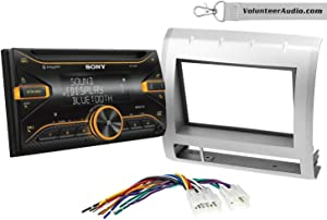Sony WX-920BT Double Din Radio Install Kit With Sirius XM Ready, USB/AUX, CD Player Fits 2005-2011 Non Amplified Toyota Tacoma (Silver)