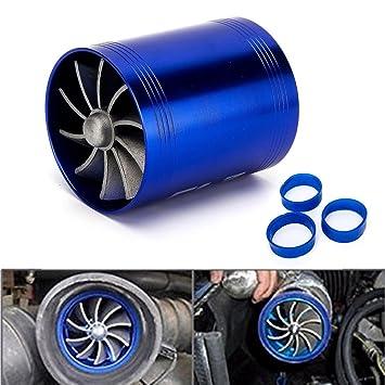 Turbocompresor Triclicks Universal, turbina ventilador doble turbo, propulso - coche, entrada de aire, gas, combustible, ventilador: Amazon.es: Coche y moto