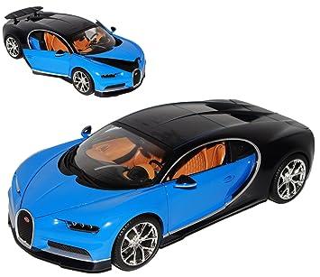 Bburago Bugatti Chiron Coupe Blau Ab 2016 1 18 Modell Auto Mit Individiuellem Wunschkennzeichen
