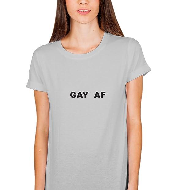 34d7857634 Gay AF Proud LGBT Community Positive Quote Pride Unicorn Rainbow T-Shirt  Camiseta Shirt para la Mujer Women  Amazon.es  Ropa y accesorios