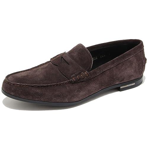Prada - Mocasines para hombre Marrón marrón 43.5: Amazon.es: Zapatos y complementos