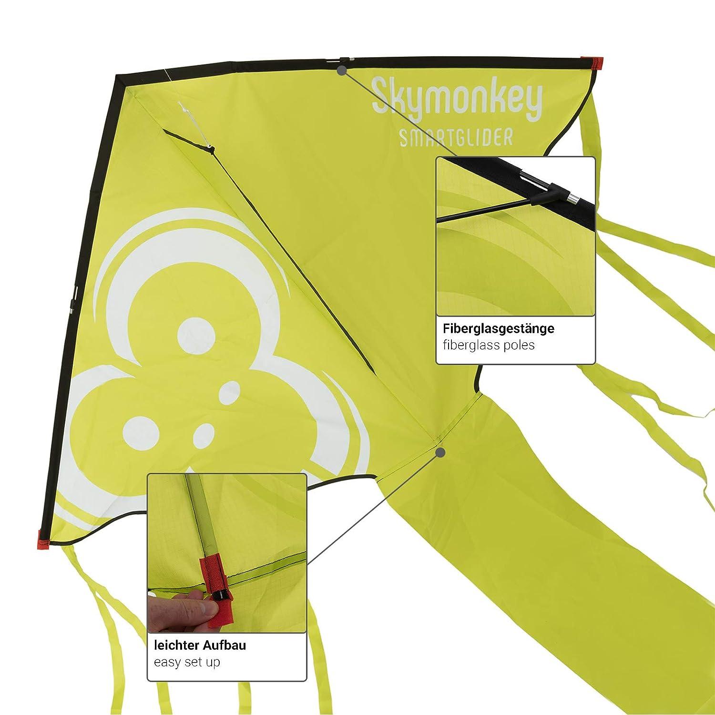 130cm Skymonkey Smartglider Cometa para ni/ños de 3 a/ños Cometa de Viento Ligero