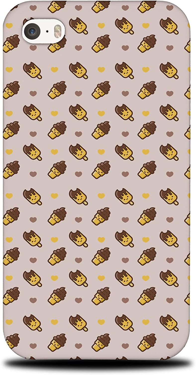 Foxercases Design (2020) #1 Food ICE Cream Heart Pattern 1 Hard Phone Case Cover for Apple iPhone 4 / 4S