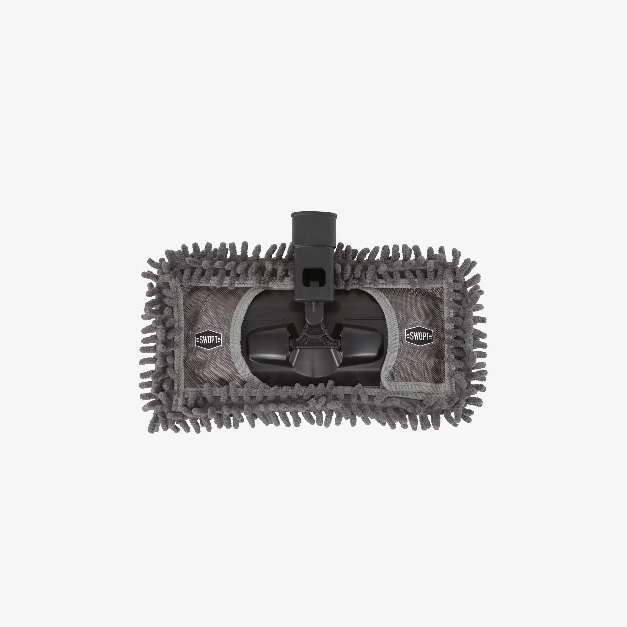 Swopt 5105C6 12'' Microfiber Dust Mop Head with Refill Mop Head