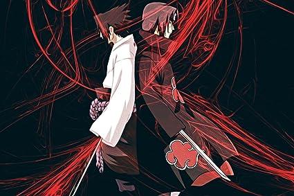amazon com itachi uchiha and sasuke uchiha poster 20x30 posters