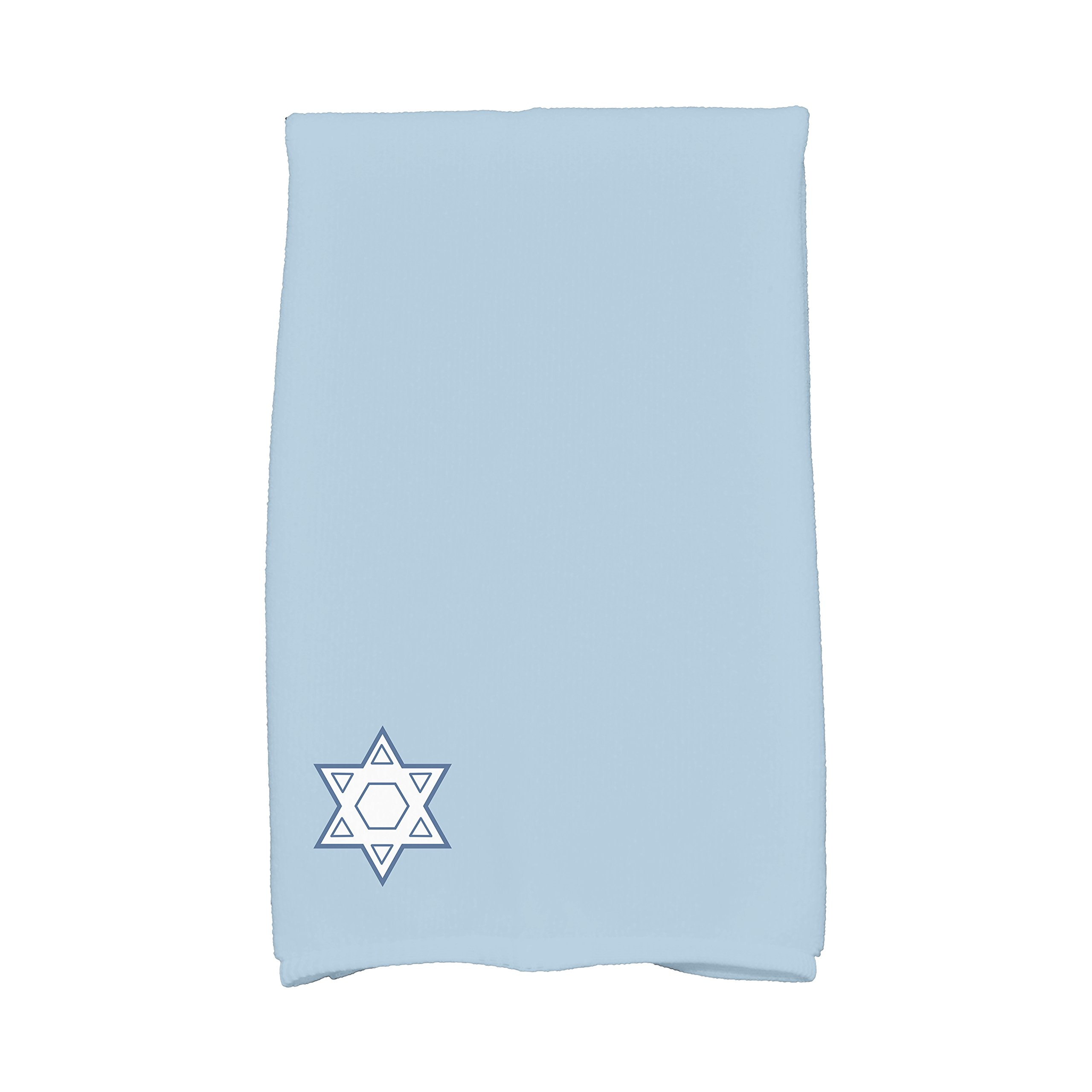 E by design KTHG964BL47 Star's Corner, Geometric Print Kitchen Towel, 16 x 25, Blue