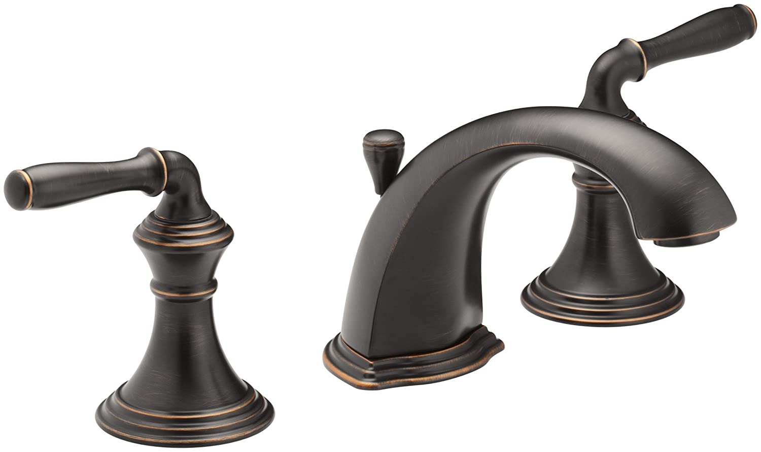 Kohler devonshire k 394 4 2bz 2 handle widespread bathroom faucet with metal drain assembly in oil rubbed bronze touch on bathroom sink faucets amazon