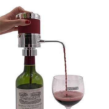 Electrónico de vino y aireador de espíritu/dispensador (plata): Amazon.es: Hogar
