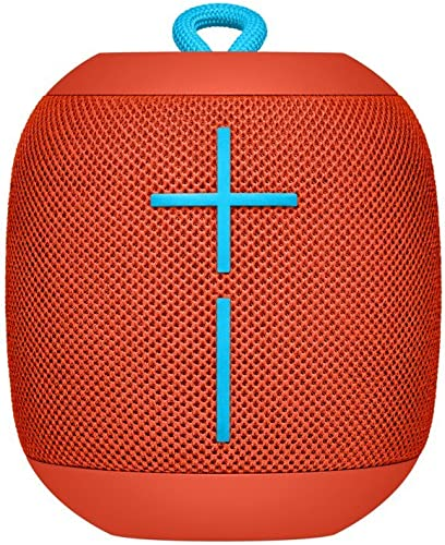 Logitech UE WONDERBOOM Portable Waterproof Bluetooth Speaker – Wireless Boom Box – Fireball Red – Bulk Packaging