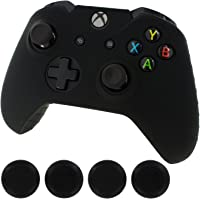 Lowpricenice Generic New Silicone Cover Case Skin Controller & grip stick caps for Xbox One(black)
