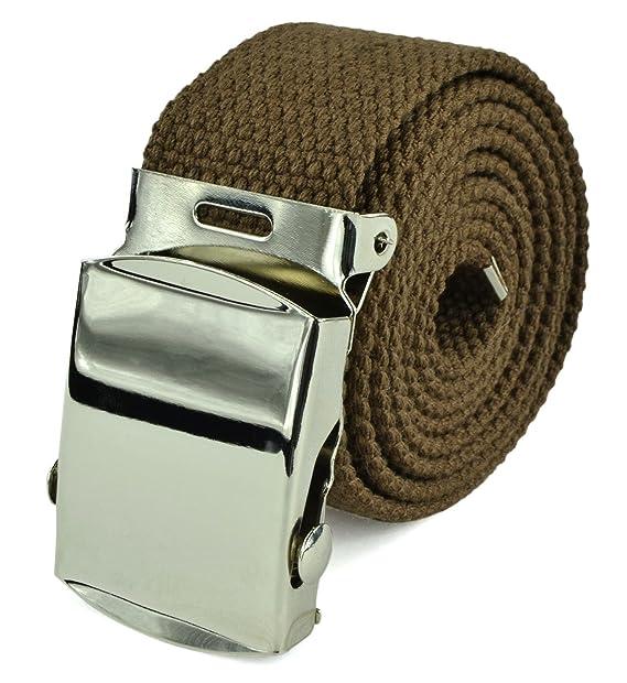 Amazon.com: lona cinturón Web – Cinturón de estilo militar ...