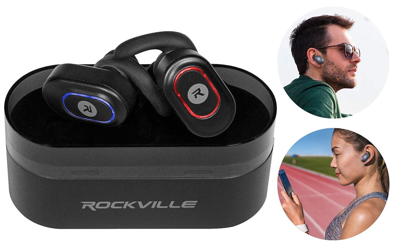 Rockville Irock Bluetooth Earbuds Earphones+Mic for iPhone 8 Smartphone